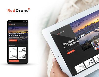 RedDrone - Rent drone Warsaw redesign drone website