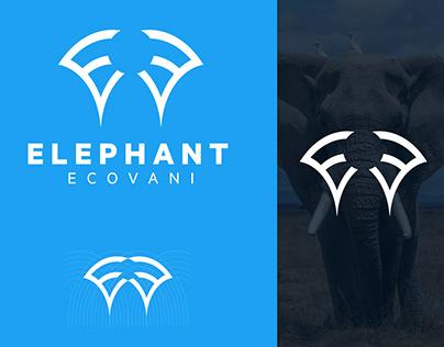 EE logo design. Logo design for elephant brand name.