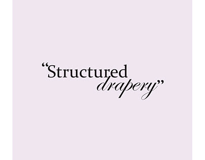 Structured drapery