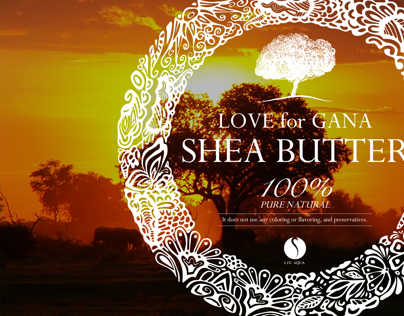 SHEA BUTTER PACKAGE LABEL