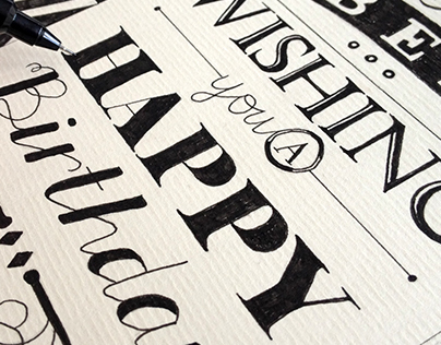 Personal Work - Hand-Drawn Type