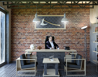 Loft Style Office Design On Behance Delectable Office Design