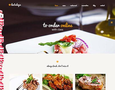 Restaurant landing page design with wordpress