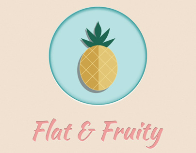Flat fruit icon collection