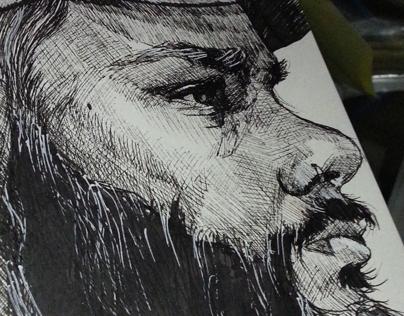 Sketchbook Dump I - Self Portraits