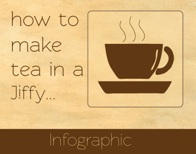 Infographic - How to make tea in a jiffy