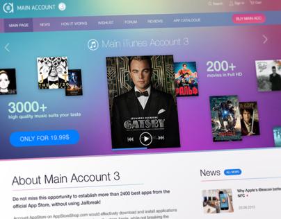 Shared Appstore Account - Responsive Website