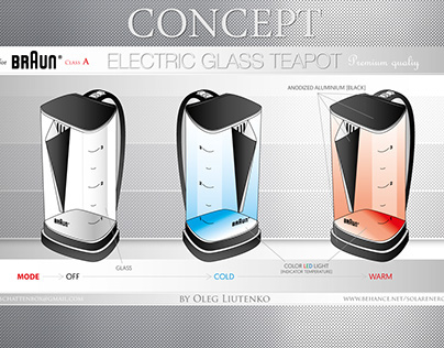 Concept ELECTRIC GLASS TEAPOT for Braun