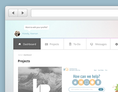 Project Management Dashboard Mockup