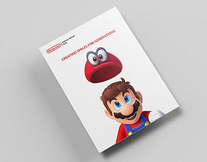 Nintendo Annual Report 2020 Redesign