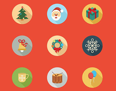80 Christmas Icon Set
