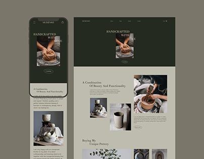 MUSIENKO - website design concept