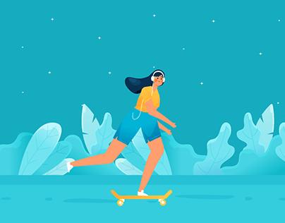 Skateboarder GIF