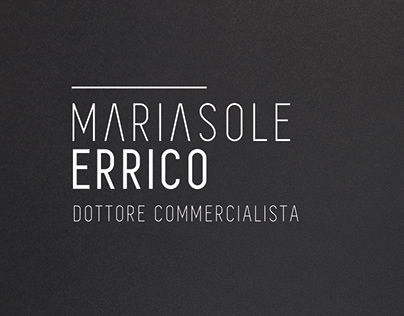 MARIASOLE ERRICO - BRAND IDENTITY