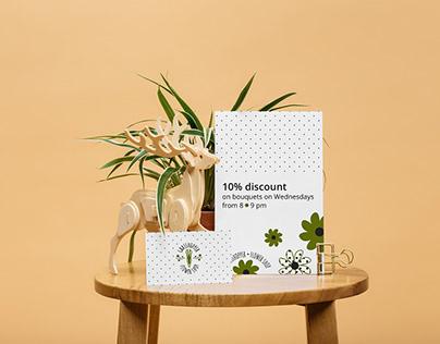 Grasshopper. Flower shop identity