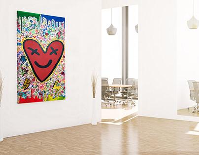Happy Heart • Painting
