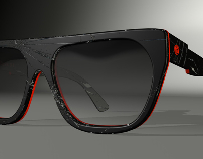 Fractured sunglasses concept