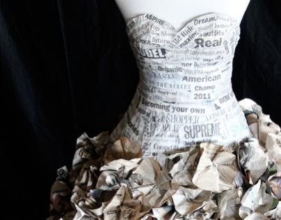 """Just A Bit Of Morning"" -- Newspaper Dress"