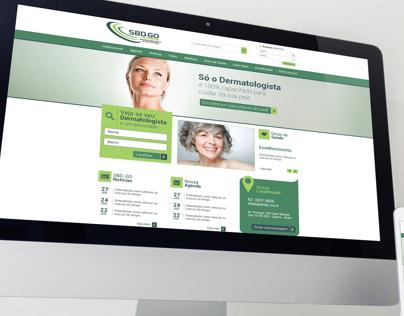Website SBD-GO (Sociedade Brasileira de Dermatologia)