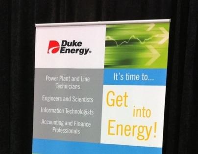 Graphic Design for Duke Energy Banner Stand