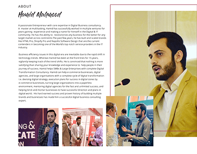 Hamid Mahmood Website (One Pager)