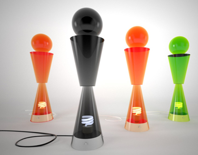 Thermoformed lamp