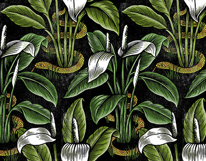Peace Lily repeat pattern