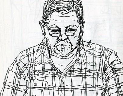 Metro sketches. Readers. Part #7