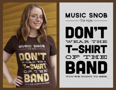 The Shirt of the Band — Music Snob Tip #376
