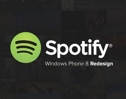 Spotify - Windows Phone 8 Redesign
