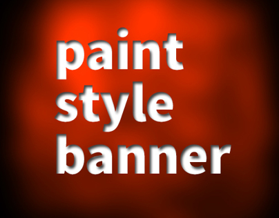 Paint style Banner