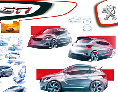 Peugeot 108 GTi- Hand Skecthing Project