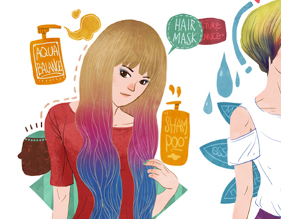 Hair style illustration 2013~2014