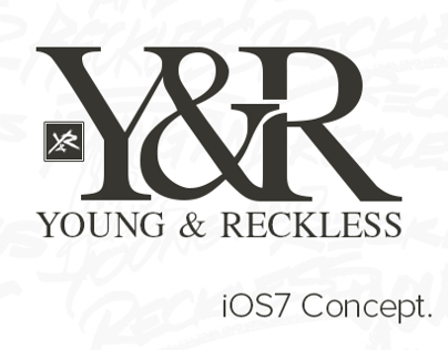 Young & Reckless - iOS7 Concept