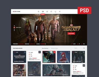 movie store - FREE PSD!