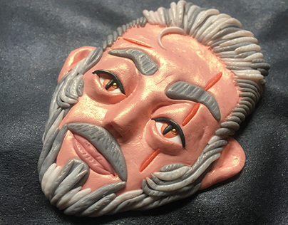 POLYMER CLAY: fridge magnet Geralt
