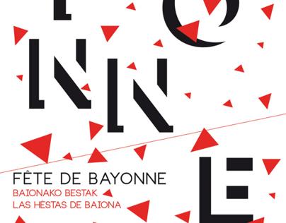 """Proposition d'affiche """"Fête de Bayonne"""""""