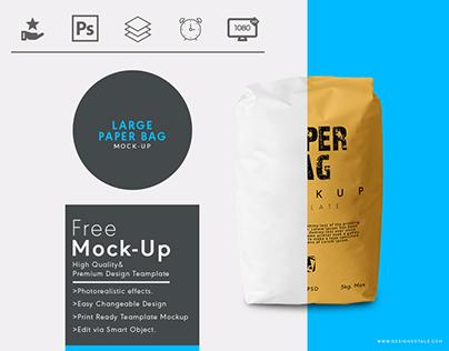 Paper sack bag free mockup | Designertale
