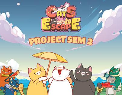Cats Escape - 2D game interface design