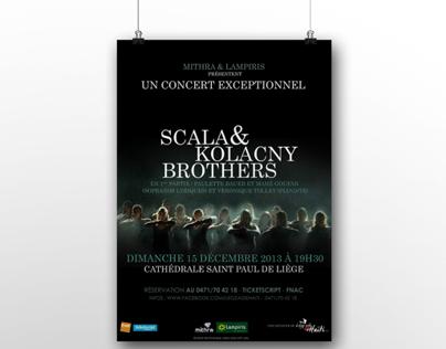 Scala & Kolacny Brothers - Liège Aide Haïti // flyers