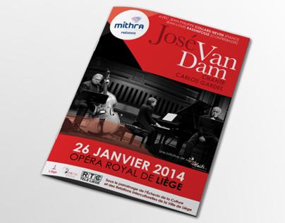 José Van Dam - Liège Aide Haïti // flyers - brochure