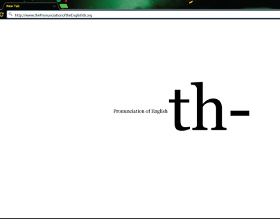 The Pronunciation of the English th- Mockup Websites