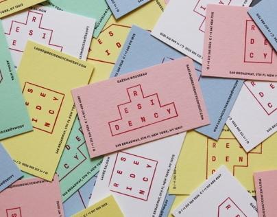 Residency – Identity / Website Design