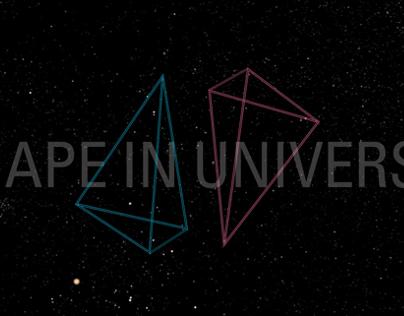 Shape in Universe