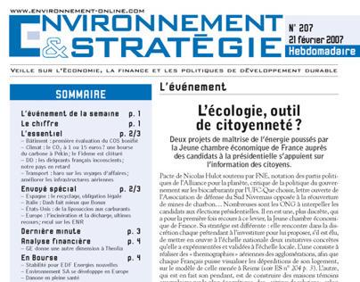 Environnement et Stratégie