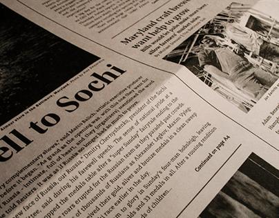 The Baltimore Sun—A Redesign