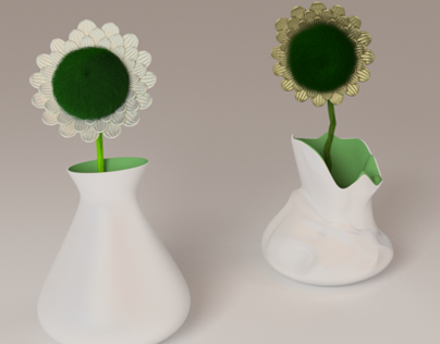 Throw-out vase