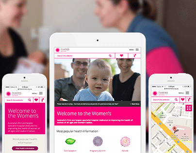 The Royal Women's Hospital Responsive Website Design