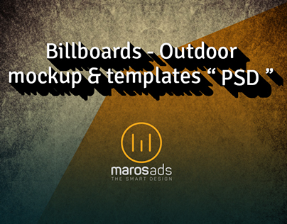 "Free PSD Download Billboards & Outdoor "" Mockup """