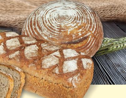 """Plakat informacyjny promujący chleb żytni """"Edoardo"""""""